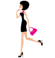 Woman in a black dress vector | Price: 1 Credit (USD $1)