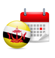 Icon of National Day in Brunei vector image