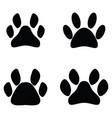 paw print icon set vector image