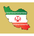 Iran Map Flag vector image