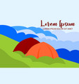 abstract background camping in beautiful mountains vector image vector image