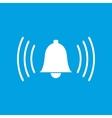Alarmclock white icon vector image vector image