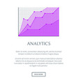 analytics visualization in form of linear graphic vector image vector image