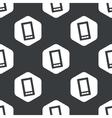 Black hexagon smartphone pattern vector image vector image