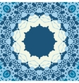 Blue Seamless abstract background with round lace vector image vector image
