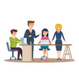 business characters working in office vector image vector image