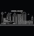 calgary silhouette skyline canada - calgary vector image vector image