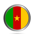 Cameroon flag button vector image vector image