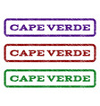 cape verde watermark stamp vector image vector image