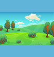 cartoon landscape nature background vector image