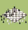 chess isometric game isometric series vector image vector image