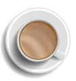 coffee cup top view hot raf coffee milk vector image vector image