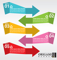 Colorful Stylish Origami Banners EPS10 vector image vector image