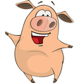 cute pig farm animal cartoon vector image vector image