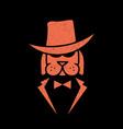 dog mafia logo vector image vector image