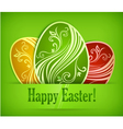 easter eggs background 10 v vector image vector image