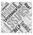 environmental issues Word Cloud Concept vector image vector image