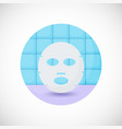 face mask flat icon vector image vector image