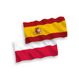 flags spain and poland on a white background vector image
