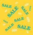 flat design sale discount vector image