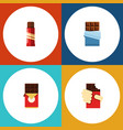 flat icon chocolate set of shaped box sweet vector image vector image