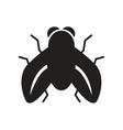 flat icon in black and white style fly insect vector image vector image