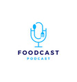 food fork spoon podcast logo icon for vector image vector image