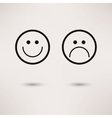 Funny and sad smiles icons flat style vector image