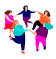 funny ladies dance vector image