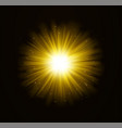 golden bright shining light effect with stars vector image vector image