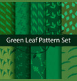 green leaf pattern set vector image