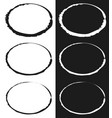 grungy circle element set - circles with smudged vector image
