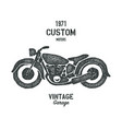 hand drawn graphic old school vintage motorcycle vector image