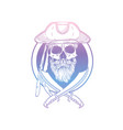 hand drawn sketch pirate skull vector image vector image
