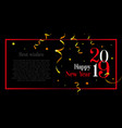 happy new year stylish card with space for your vector image vector image