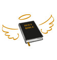 holy bible with wings and halo gospel the vector image