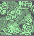 imprint leaves - seamless pattern green leaves on vector image vector image