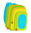 kids school bag icon cartoon style vector image vector image