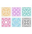 korean ornament for window and floor vector image vector image