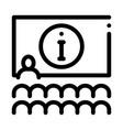 lector information blackboard icon outline vector image vector image