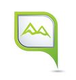 mountain icon green map pointer vector image vector image