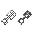 piston line and glyph icon car cylinder vector image