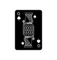 queen of spades french playing cards related icon vector image vector image