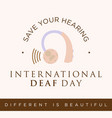 quote for international deaf day emblem concept vector image