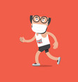 running men wearing medical masks in a running vector image vector image