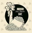 saint patricks day cartoons card vector image vector image