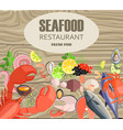 seafood restaurant with meals made of fresh fish vector image