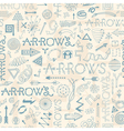 Seamless pattern with doodle arrows vector image