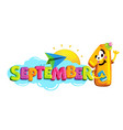 september 1 vector image vector image
