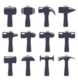 Set icons of hammers vector image vector image